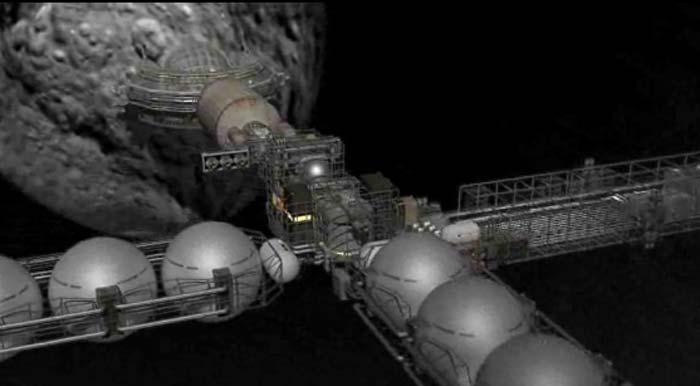 завод по добыче ископаемых из астероида