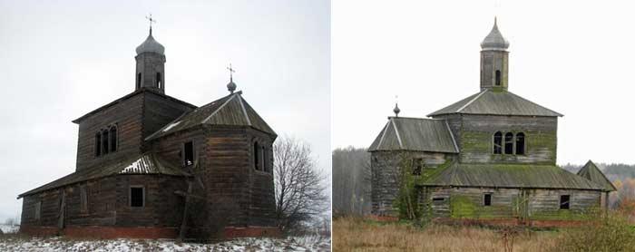 Забытые деревянные церкви Беларуси
